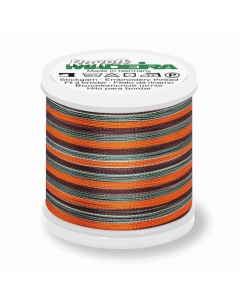 Madeira Multi Rayon Thread 200m - 2144 Coral/ Brown/Teal