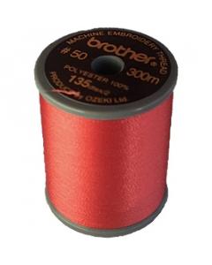 Brother satin finish embroidery thread. 300m spool CARMINE 807