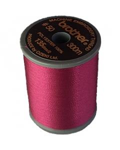 Brother satin finish embroidery thread. 300m spool DARK FUCHSIA 107