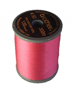 Brother satin finish embroidery thread. 300m spool DEEP ROSE 086