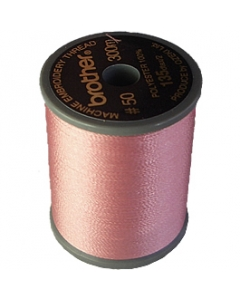Brother satin finish embroidery thread. 300m spool SALMON PINK 079