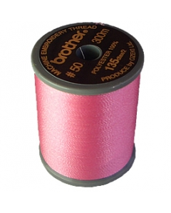 Brother satin finish embroidery thread. 300m spool PINK 085