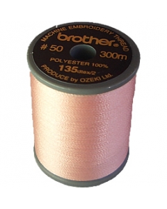 Brother satin finish embroidery thread. 300m spool FLESH PINK 124