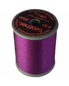 Brother satin finish embroidery thread. 300m spool ROYAL PURPLE 869