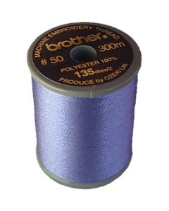 Brother satin finish embroidery thread. 300m spool WISTERIA VIOLET 607