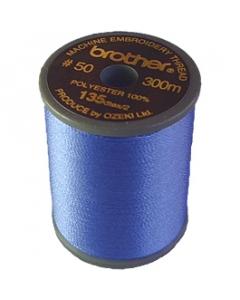 Brother satin finish embroidery thread. 300m spool CORN FLOWER BLUE 070