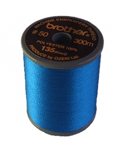 Brother satin finish embroidery thread. 300m spool ELECTRIC BLUE 420