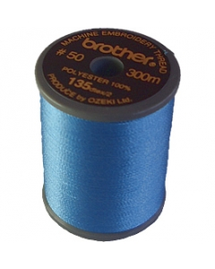 Brother satin finish embroidery thread. 300m spool SKY BLUE 019