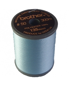 Brother satin finish embroidery thread. 300m spool LIGHT BLUE 017