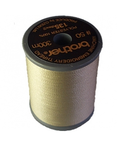 Brother satin finish embroidery thread. 300m spool BEIGE 843