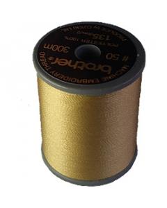Brother satin finish embroidery thread. 300m spool KHAKI 348
