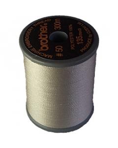 Brother satin finish embroidery thread. 300m spool WARM GREY 399