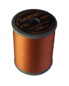 Brother satin finish embroidery thread. 300m spool CLAY BROWN 339