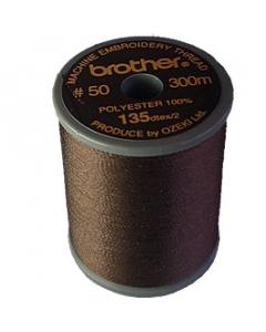 Brother satin finish embroidery thread. 300m spool DARK BROWN 058
