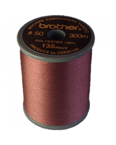 Brother satin finish embroidery thread. 300m spool AMBER RED 333