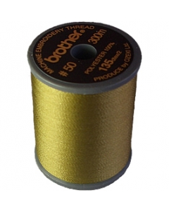 Brother satin finish embroidery thread. 300m spool BRASS 328