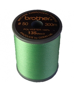 Brother satin finish embroidery thread. 300m spool MINT GREEN 502