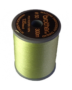 Brother satin finish embroidery thread. 300m spool FRESH GREEN 027