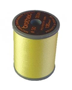 Brother satin finish embroidery thread. 300m spool LEMON YELLOW 202