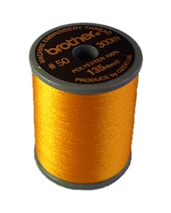 Brother satin finish embroidery thread. 300m spool ORANGE 208
