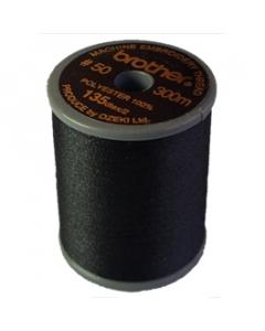 Brother satin finish embroidery thread. 300m spool BLACK 900