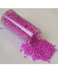 Gutermann Seed Beads Translucent Dark Pink