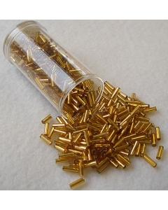 Gutermann Bugle Beads Twisted Gold