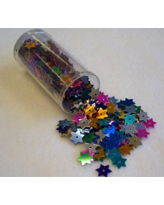 Gutermann Sequins15mm Small Stars In Mixed Colours
