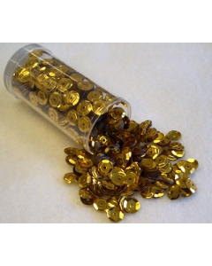 Gutermann Sequins 6mm Cup Gold