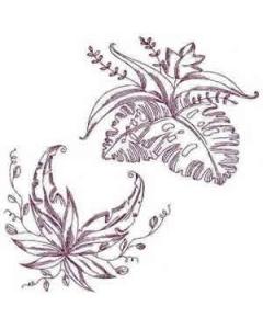 30 set Floral Fantasy Embroidery Design