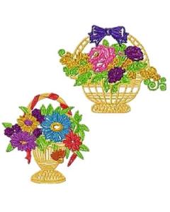 Flower Basket Machine Embroidery Designs