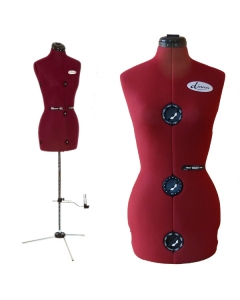 Dressmakers dummy with metal stand with skirt marker