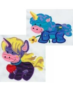 10 set Applique Unicorn Embroidery Design