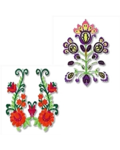 8 set Beautiful Florals Embroidery Design