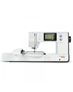 Front view showing the Bernina like controls with same internal Bernina software interface
