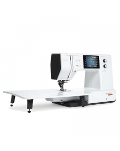 Bernette B79 in sewing mode with large extension table fitted