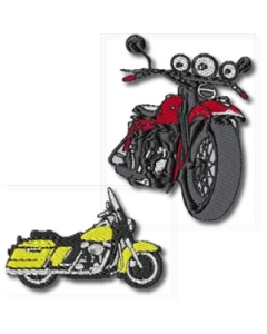 10 Set of Motorcycles Embroidery Design