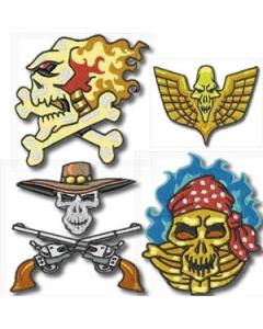 22 Set  Biker Skulls Embroidery Design