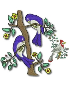 10 Set Birds and Flowers Embroidery Design