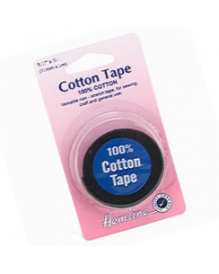 Black Hemming Cotton Tape 6mm wide