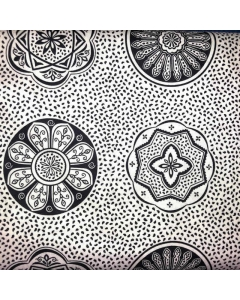Indian Inspired Circle Monochrome Fabric