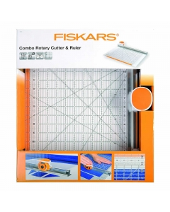 Fiskars combo rotary cutter and ruler 12x12