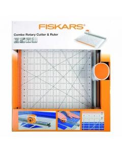 Fiskars combo rotary cutter and ruler 12x12