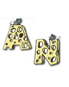 Mouse Alphabet Font  Machine Embroidery Design
