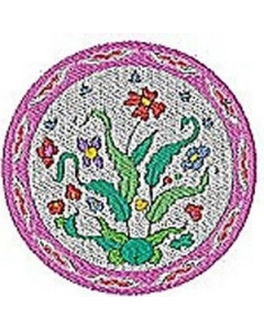 Set of Chinese Plates Embroidery Design
