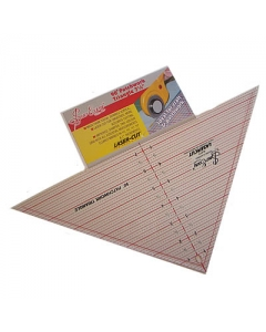 QUILTING RULER 90 DEGREE TRIANGLE 7-1/2 X 15-1/2 INCH
