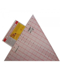QUILTING RULER 60 DEGREE TRIANGLE 12 X 13-7/8 INCH