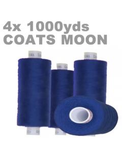 4x Large 1000yds Polyester Overlocking Thread Blue