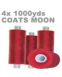 Pack of 4 1000m Blue overlock thread