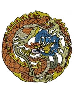 Oriental dragon Embroidery Design